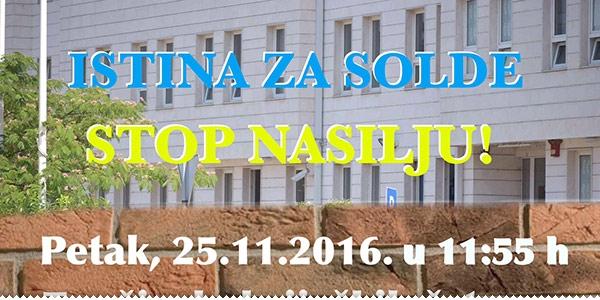 Sutra prosvjed u znak potpore obitelji Soldo, večeras prilog o slučaju na Novoj tv